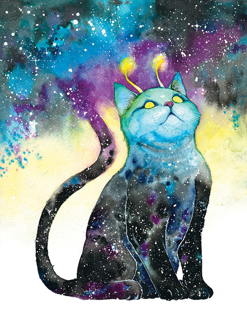 Cody Vrosh Art Meowterspace Space Cat Gadzooks