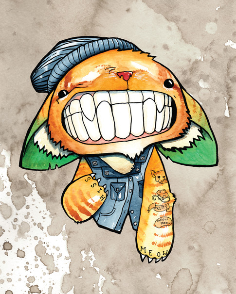Cody Vrosh Teeth Creatures Punk Cat
