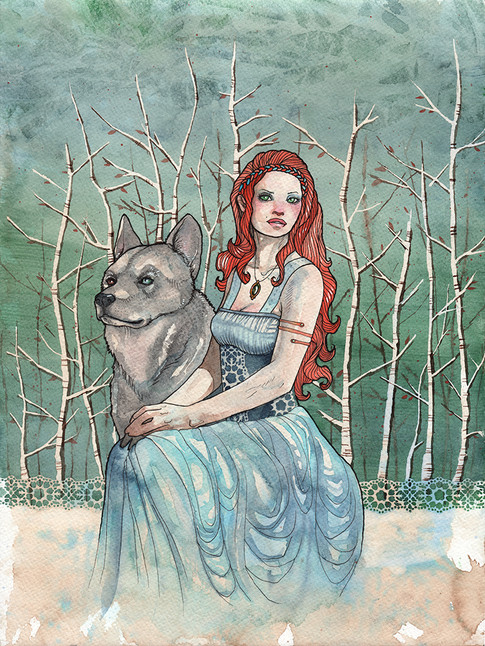 Cody Vrosh Art Coffee Creatures Wolves of the North