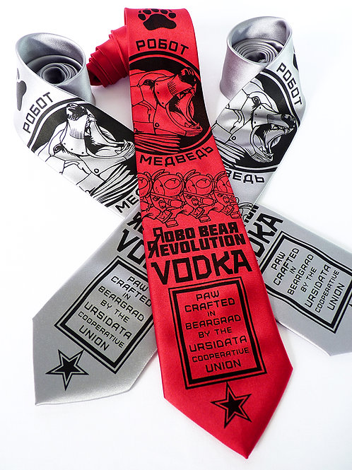 Robo Bear Revolution Vodka Necktie