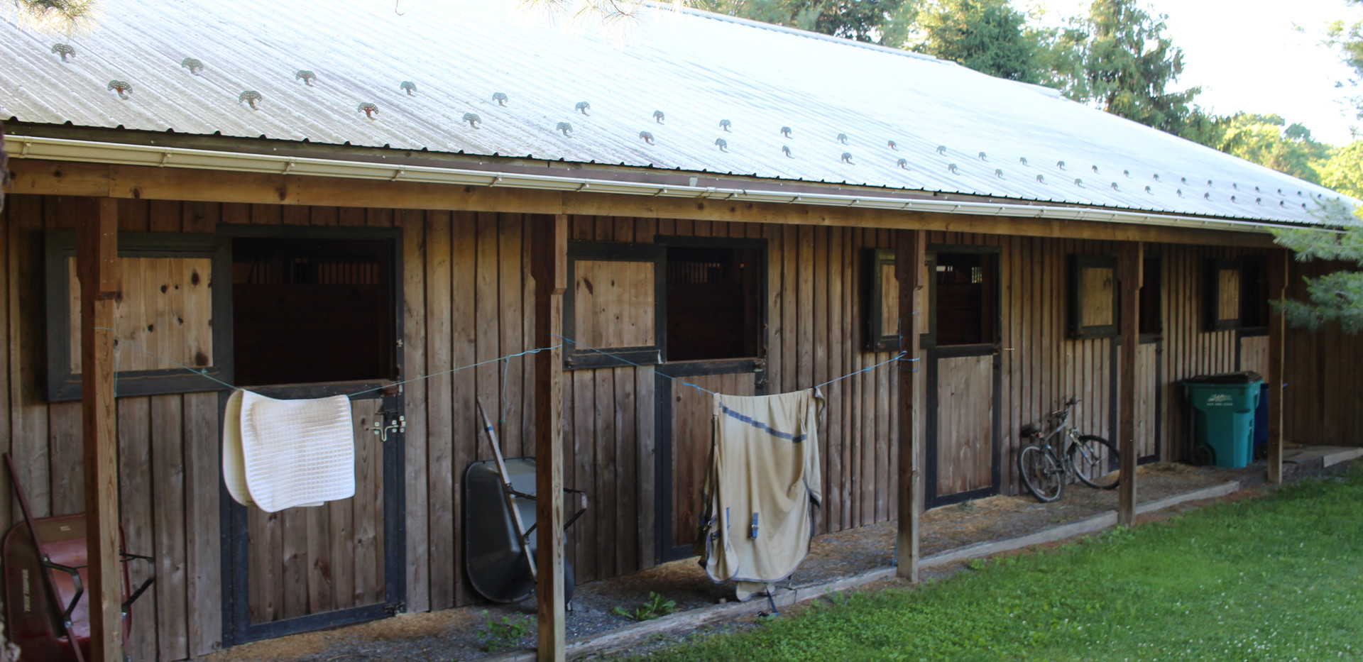 Back of main barn