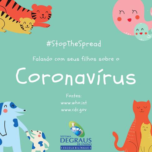 Falando com seus filhos sobre coronavírus
