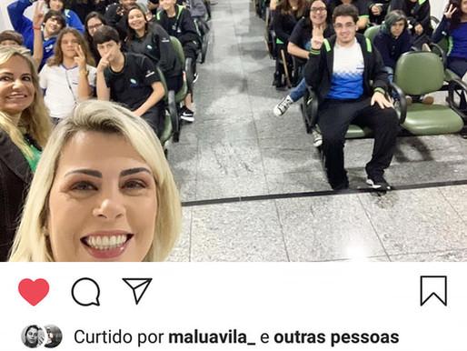 #tbt Jornalista Érica Salazar fala sobre Fake News com nossos alunos