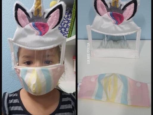 Máscaras criativas para crianças