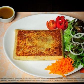 Crepe com salada do Tio Gu Café Creperia