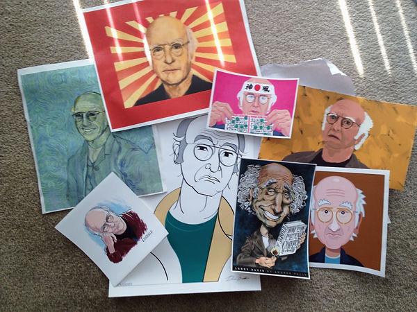 Larry David art paintings