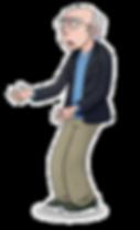 Larry David animation cartoon caricature