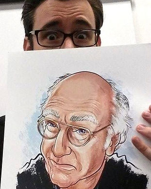 Larry David by Jason Chatfield