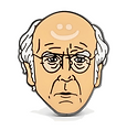 Larry David pin button