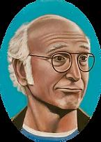 Larry David face painting art