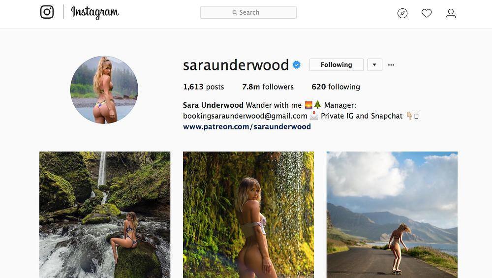 Visit Sara's official Instagram