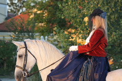 Side saddle ride