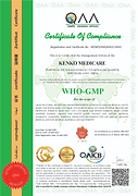 WHO Quality Certificate
