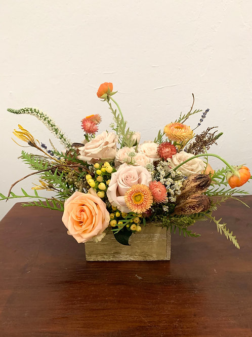 Flower Centerpiece in Square Base