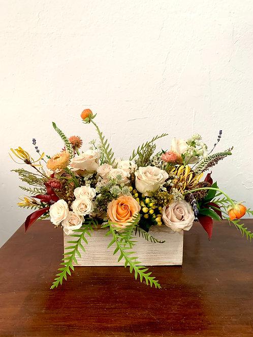 Flower Centerpiece in Rectangular Base