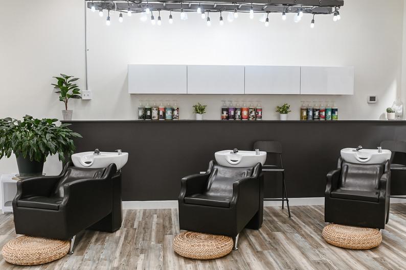 Belle Salon Co Shampoo Area