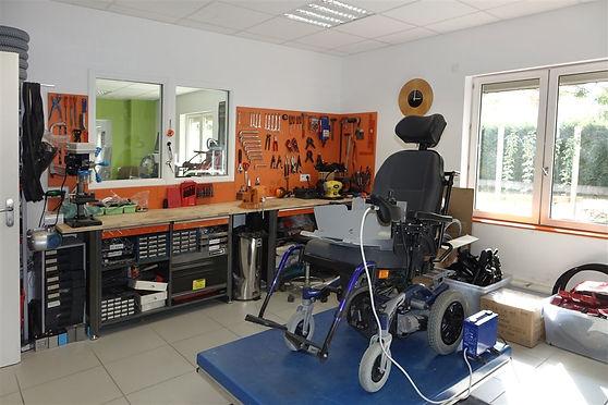 Atelier du service matériel médical