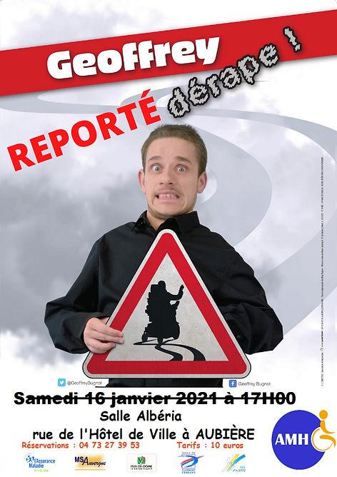 affiche du spectacle Geoffrey dérape le 2 octobre 2021