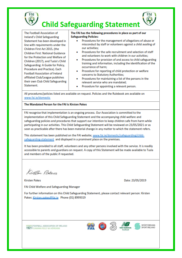FAI Child Safeguarding Statement 2019.do