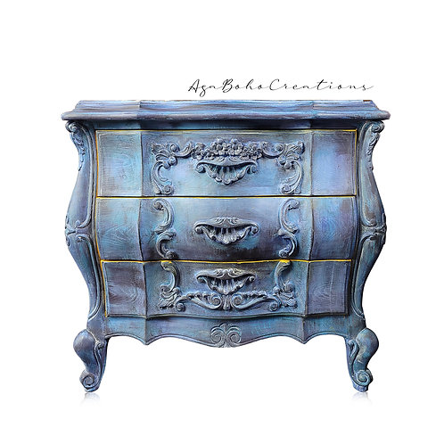 Pair of Blue Floral End Tables