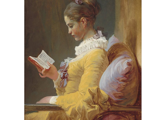 Young Girl Reading - A1