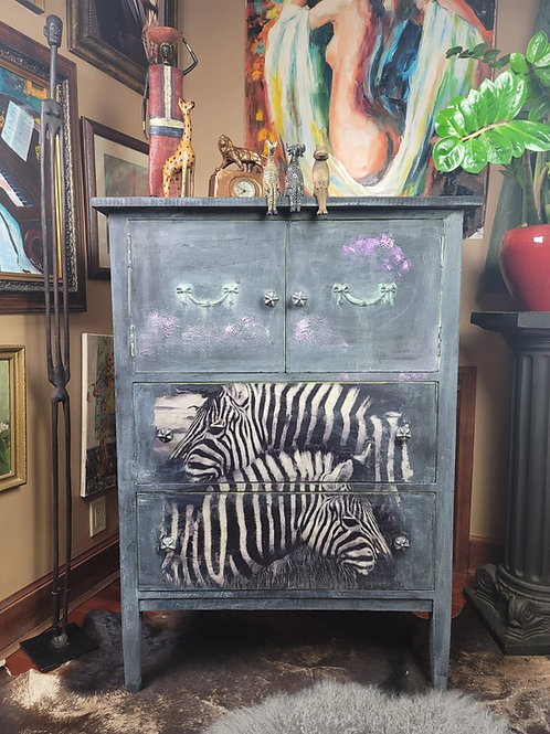 Vintage Zebra Cabinet