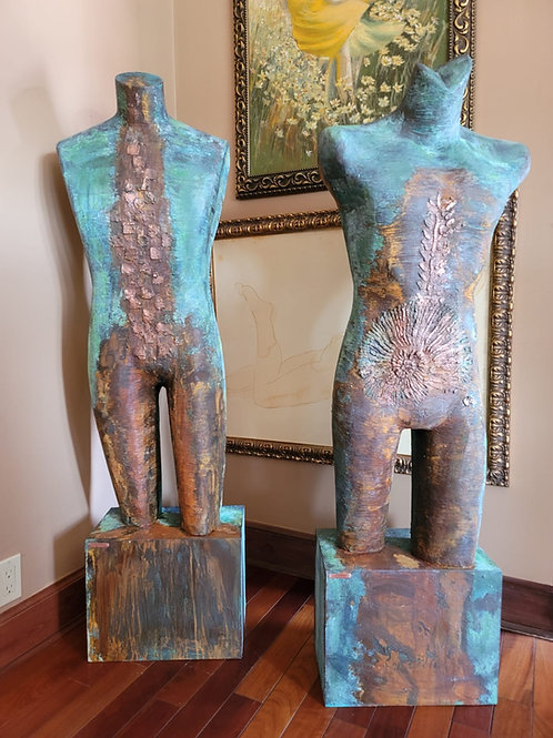 Vintage Plexiglass Statues