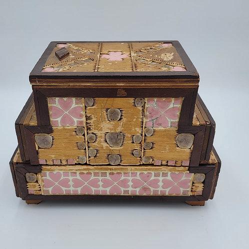 Tramp Art Jewelry Box