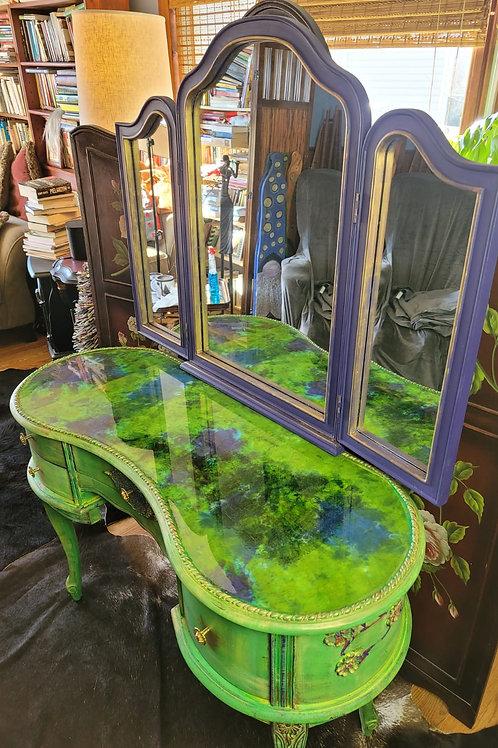 Hand Painted Vanity Table