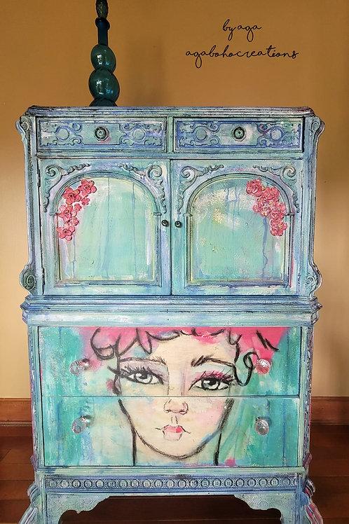 Mermaid Inspired Dresser