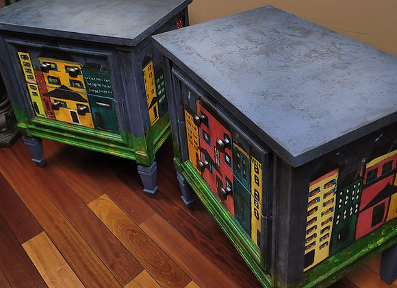 Kandinsky Inspired End Tables