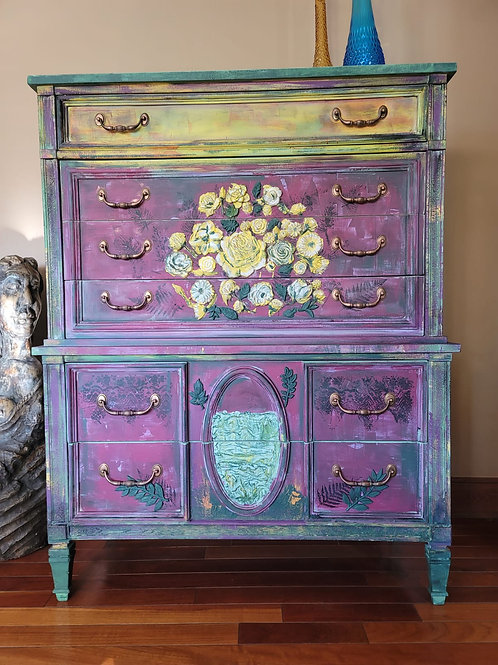 Colorful Funky 6-Drawer Dresser