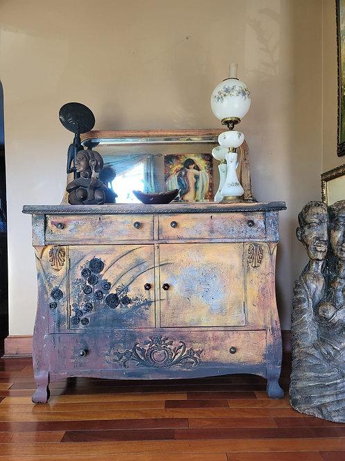 Vintage Cabinet and Original Mirror