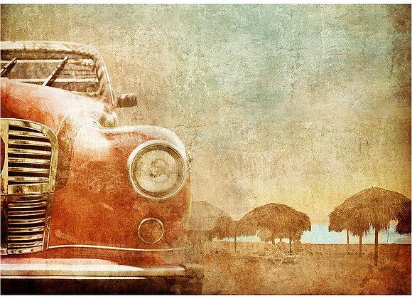 Vintage Red Car - A1