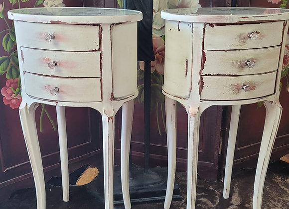 Shabby Chic Vintage End Tables