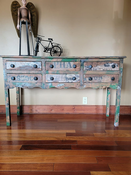 Camo Inspired Entry Table