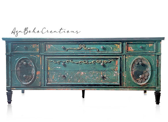 Marble Top Entertainment Table