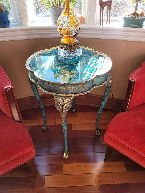 Faux Marble Top Table