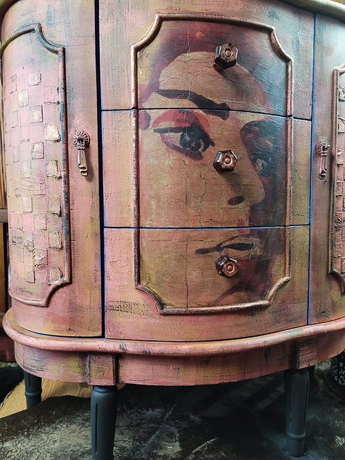 Funky Entry Cabinet