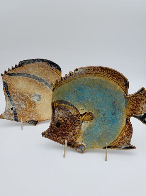 Pair of 1960s Style Fish Plates