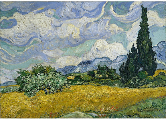 Wheatfield with Cypresses - A1