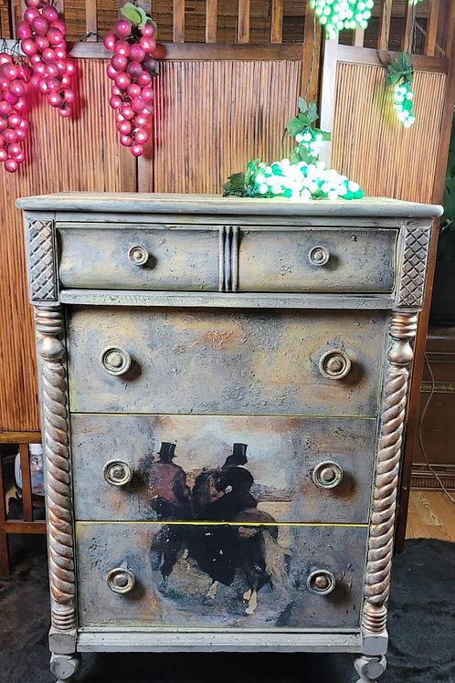 Vintage Hand Painted Dresser
