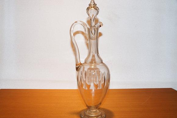 Gammel glaskaraffel m. hank fra Aalborg glasværk