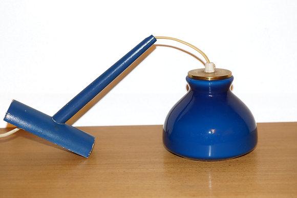 Blå glas væglampe