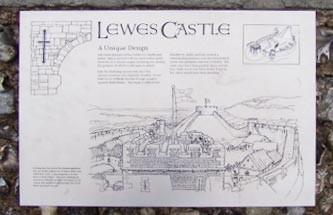 Lewes Castle sign