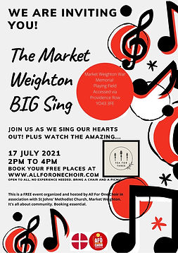 All For one Choir with St Johns Methodist Church Market Weighton