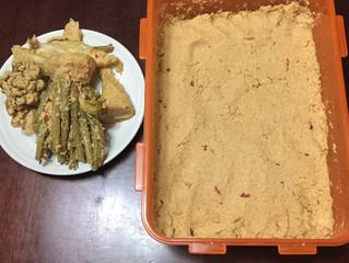 百年床への道②-捨て漬け野菜取り-