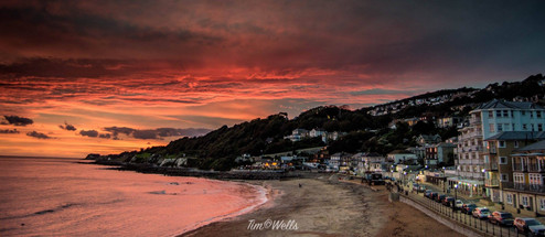 tonights sunset down at Ventnor
