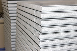 side view of isowall or sandwich panel,