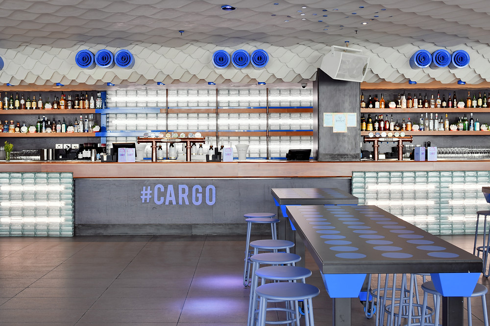 Cargo Bar, featuring Obeco glass blocks